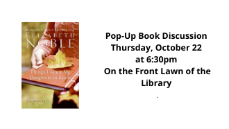 Pop up book discussion flyer