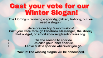 Winter slogan contest submision flyer