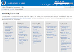 Disability Resources screenshot