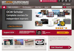 MIT OpenCourseWare screenshot
