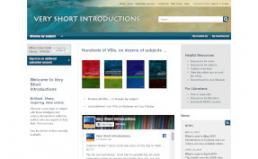 Very Short Introductions screenshot