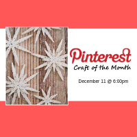 Pinterest Craft of the Month December 2018